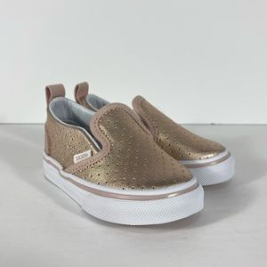 Vans Slip-On V Perforated Leather Sneakers